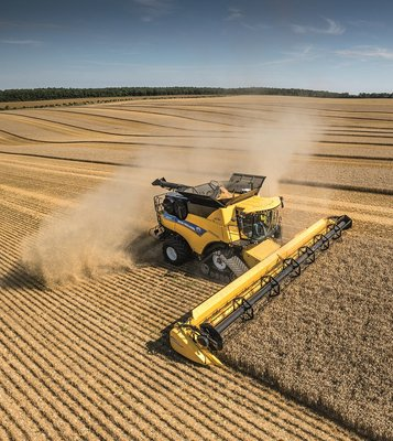 ITT News. New Holland CR Revelation combine harvester